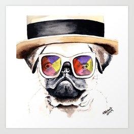 Elton Pug Art Print