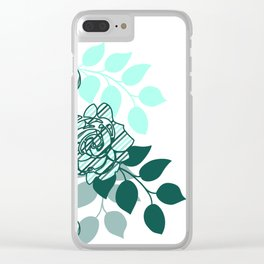 Mint Sampler Stripes Clear iPhone Case