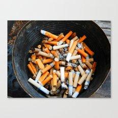Smokers Addiction Canvas Print