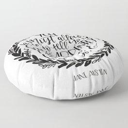Jane Austen Floor Pillow