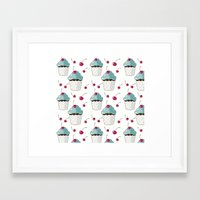 cupcakes Framed Art Prints featuring Cupcakes by Julscela