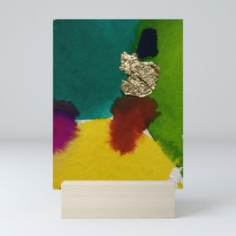 Abstract with Gold Leaf Mini Art Print