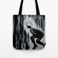 pivot Tote Bags featuring Queens of Pain by JezRebelle