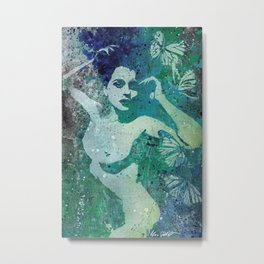 Heavy Crown (nude butterfly pin up, erotic graffiti) Metal Print