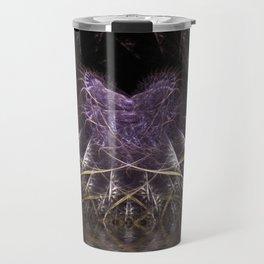 Purple Love Web Fractals Travel Mug
