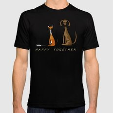 Happy Together - Black MEDIUM Black Mens Fitted Tee