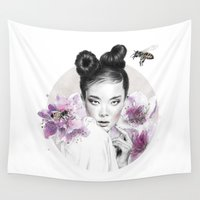 arya Wall Tapestries featuring Arya by Nevertheless
