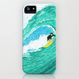 Big wave surfer iPhone Case
