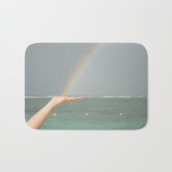 Rainbow Hand Bath Mat