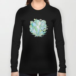 The cat in love with a Cactus Long Sleeve T-shirt