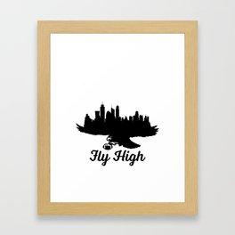 Fly High Eagles Framed Art Print