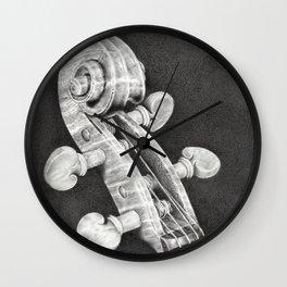Violin Scroll Wall Clock