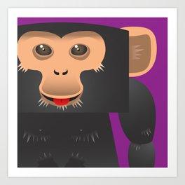 Cute Ape Art Print