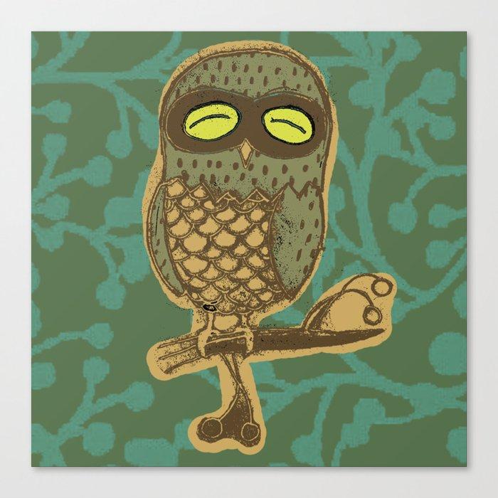 Retro Owl Canvas Print
