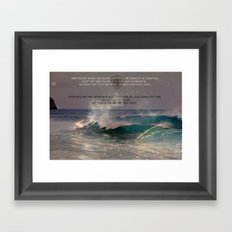 The Whole Point Of The Ocean Framed Art Print
