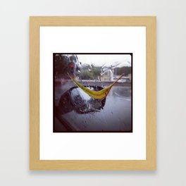 Rainy days Framed Art Print