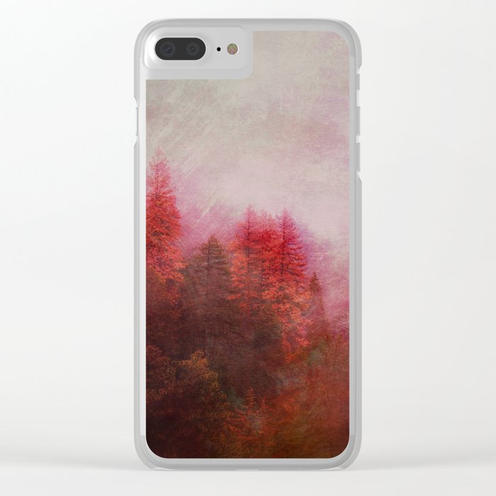 Dreamy Autumn Forest Clear iPhone Case