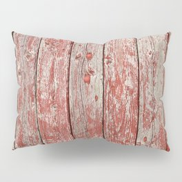 Rustic red wood Pillow Sham