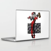 harley quinn Laptop & iPad Skins featuring Harley Quinn by Tash O'Toole