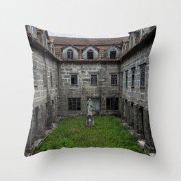 Abandoned monastery Throw Pillow