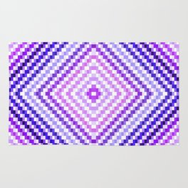 Purple Pixel Diamond Rug