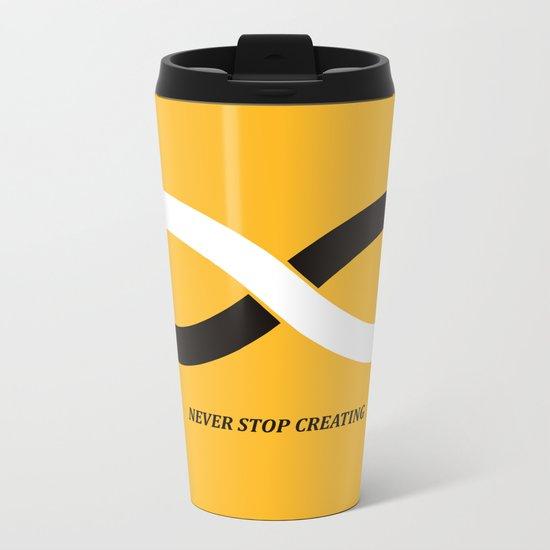 Never stop creating (the infinity pencil) Metal Travel Mug