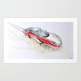 Cardesign Sketch Artwork Art Print