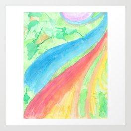 colors of the sea Art Print