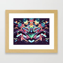 BirdMask Visuals - Peacock Framed Art Print