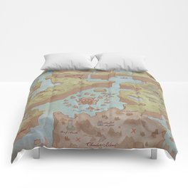Super Mario World Map (Vintage Style) Comforters