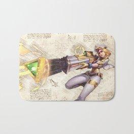 Prestige edition caitlyn arcade skin artwork adc da vinci style sketch Bath Mat