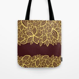Oriental Persian Paisley, Leaves - Red Yellow Tote Bag