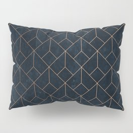 Gold Art deco on Navy ink Pillow Sham