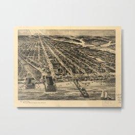 Vintage Pictorial Map of Asbury Park NJ (1910) Metal Print