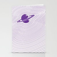 saturn Stationery Cards featuring Saturn by Danielle Podeszek