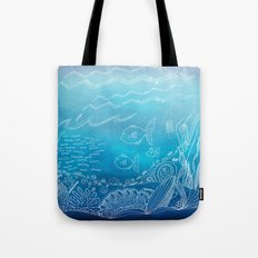 Wondersea Blue Tote Bag