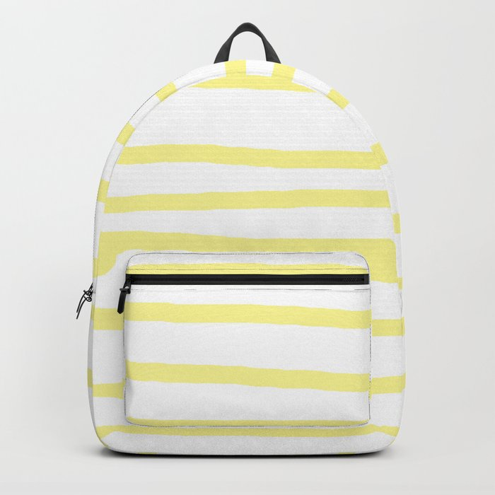 Simply Drawn Stripes in Pastel Yellow Backpack