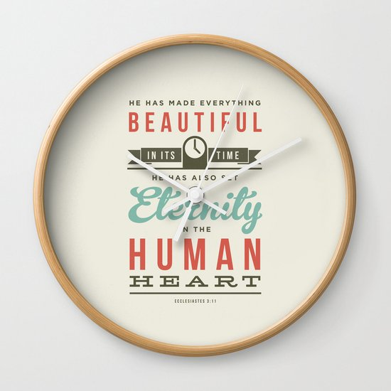 He has made everything beautiful Wall Clock