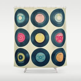 Vinyl Collection Shower Curtain