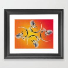 silver heart Framed Art Print