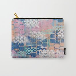 honeycomb and lace Carry-All Pouch
