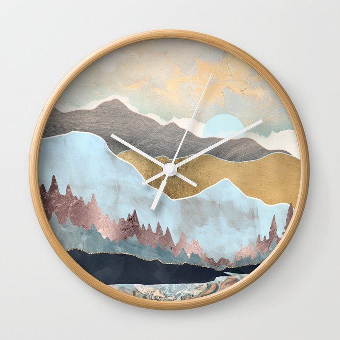 Winter Light Wall Clock