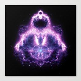 Purple Buddhabrot Fractal Art Canvas Print