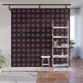 Pattern with Red Jewelery Brooches. Wall Mural