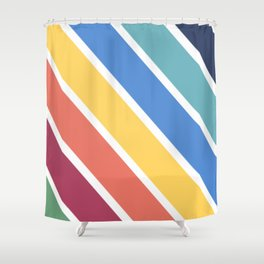Simple Lines Shower Curtain