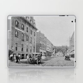 Downtown Ticonderoga Panorama circa 1913 Laptop & iPad Skin