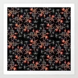 Wildflower Pattern I Art Print