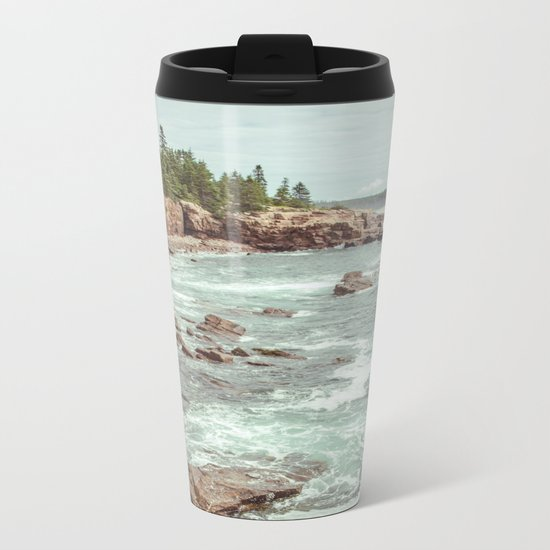 Swirling Sea Metal Travel Mug