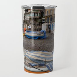 Boats in Positano Italy Travel Mug