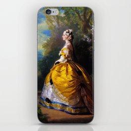 Eugénie de Montijo, oil on canvas by Franz Winterhalter iPhone Skin
